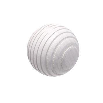 Embout boule lignée Intensions Natural blanc calcaire ø28 mm 2 pièces