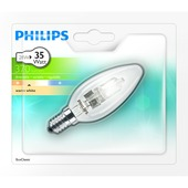 Ampoule flamme Philips Eco Halo E14 370 Lm 28W = 35W