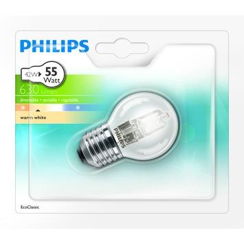Ampoule globe Philips Eco Halo E27 630 Lm 42W = 55W