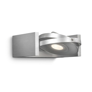 Philips Particon spot met geïntegreerde LED 6W =  56W aluminium