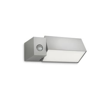 Applique extérieure avec détecteur de mouvement Border Philips ampoule économique E27 23W 1430 lumens gris