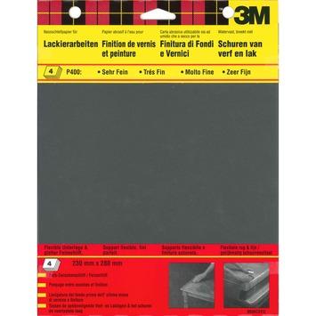 Papier abrasif résistant à l'eau P400 3M 4 pièces