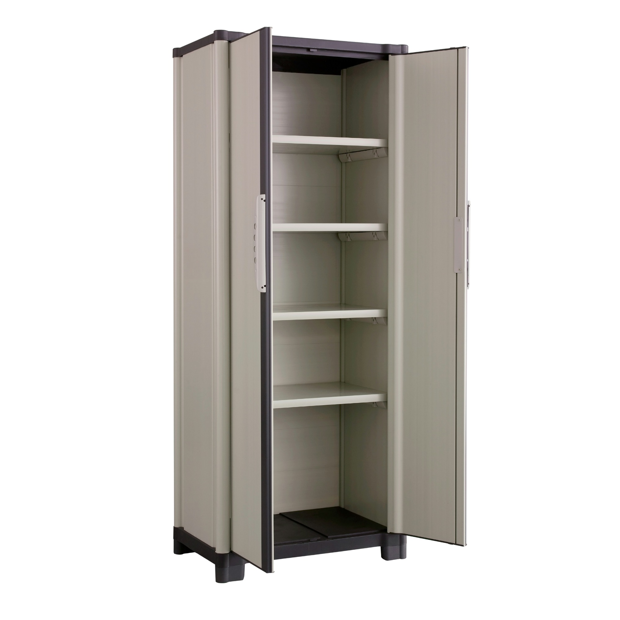 Grosfillex workline armoire gris anthracite etag res for Armoire grosfillex essential