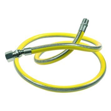 """Flexible de raccordement pour gaz naturel Van Marcke GO pour appareils domestiques fixes 1/2""""Mx1/2""""F  100 cm jaune"""