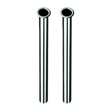 Van Marcke GO Tube d'alimentation avec collet Ø10 - L=300 mm Chromé 2 pièces