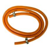 Van Marcke gasslang propaan- / butaan + 2 spanringen inox ø8xø15 mm - l= 150 cm oranje