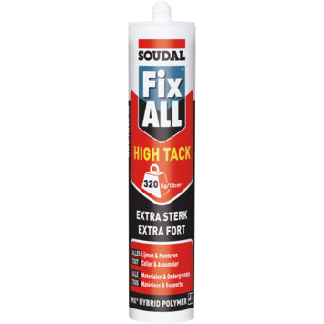 Soudal Fix All montage- en afdichtingskit high tack beige 290 ml