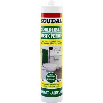 Mastic acrylique peintre salle de bains Soudal blanc 300 ml