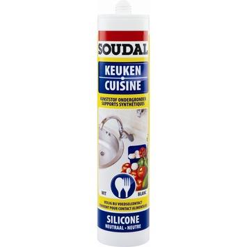 Silicone cuisine neutre Soudal blanc 300 ml
