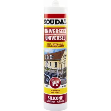 Soudal siliconenkit universeel bruin 300 ml