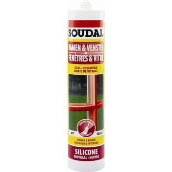 Soudal siliconenkit ramen en vensters bruin 300 ml