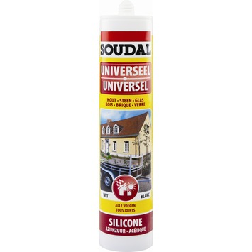 Soudal siliconenkit bouw wit 300 ml