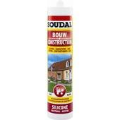 Silicone construction neutre Soudal gris 300 ml