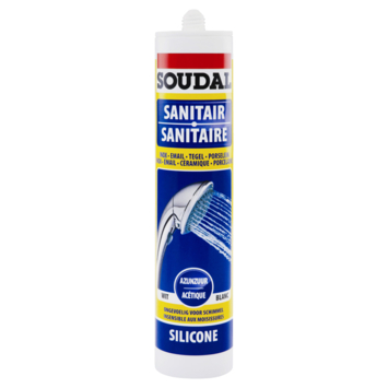 Silicone sanitaire Soudal blanc 300 ml