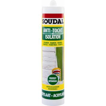 Mastic isolation Soudal blanc 300 ml