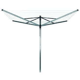 s choir parapluie lift o matic brabantia avec housse 60 m gris argent s choirs linge. Black Bedroom Furniture Sets. Home Design Ideas