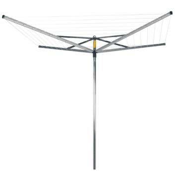 Séchoir parapluie Compact Brabantia 50 m gris argenté