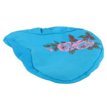 Zadelhoes blauw met bloemenprint