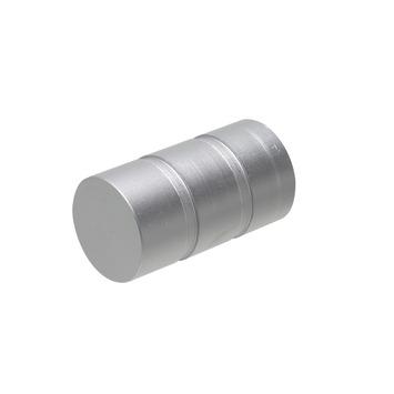 Intensions Practical eindknop voor roede bol aluminium ø20 mm 2 st
