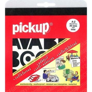 Jeu de lettres adhésives Pickup 30 mm noir