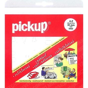 Jeu de chiffres adhésifs Pickup 30 mm blanc