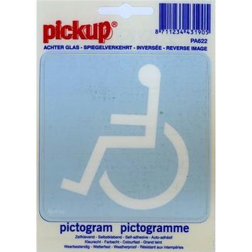 Pickup pictogram achter glas toegang rolstoelen