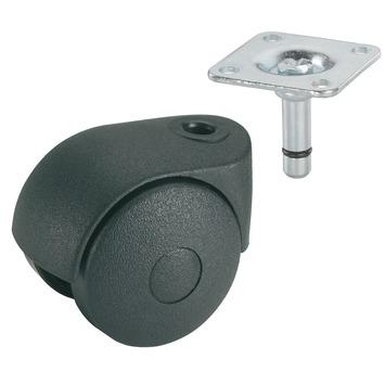 Roulette pour meubles avec plateau 50 mm 30 kg