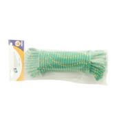 Gevlochten touw 8 mm 20 meter polypropyleen groen
