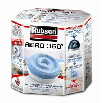 Rubson vochtopnemer aero 360° navulling tab neutraal 2 x 450 g