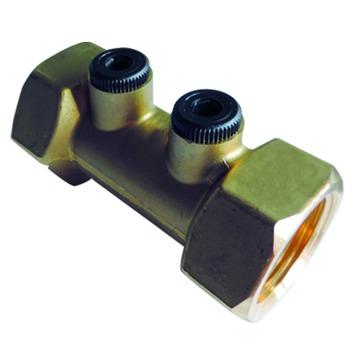 """Clapet anti-retour avec 2 contrôles type A Van Marcke GO 1/2""""Fx1/2""""F laiton"""