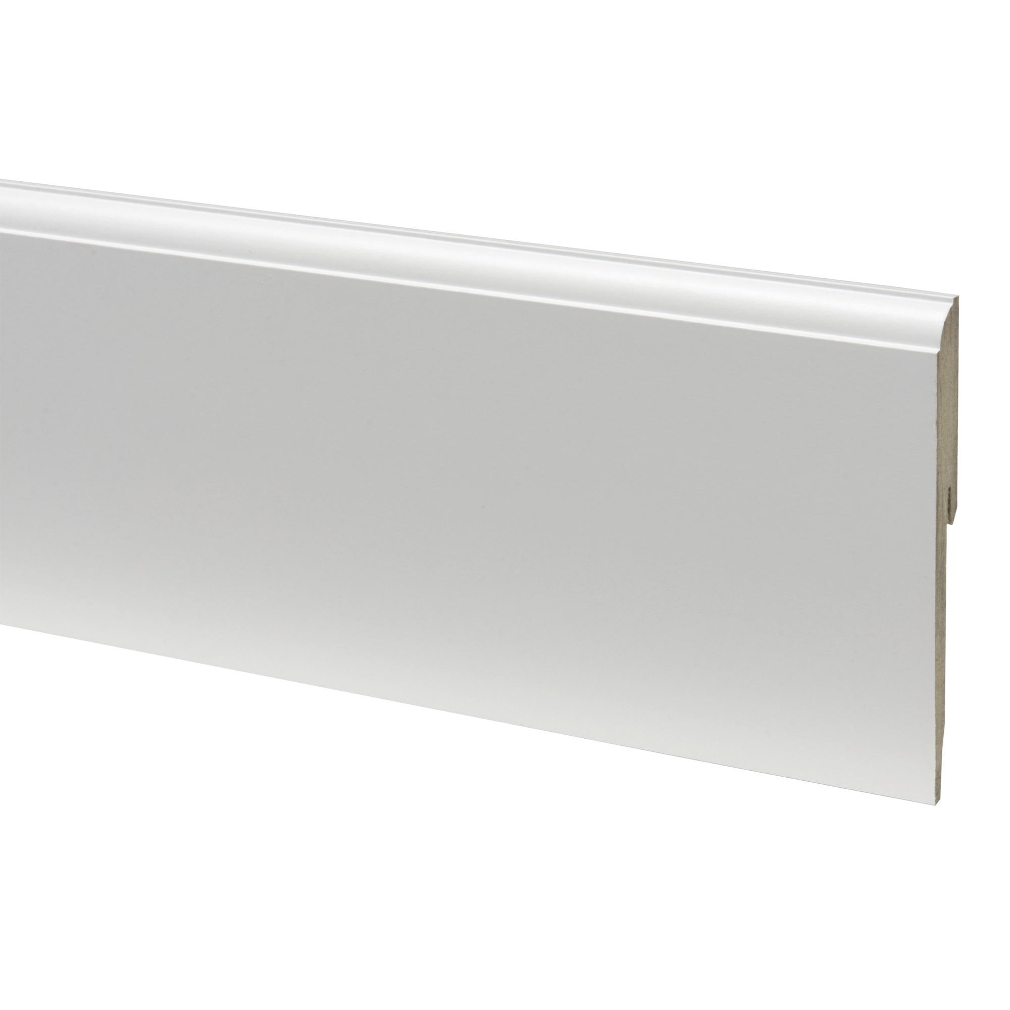 Plinthe mdf quart de rond 12120 blanc 240 cm plinthes for Table quart de rond