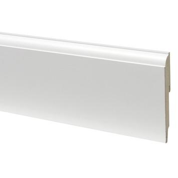 Plint mdf kwartrond 19120 wit 240 cm for Karwei plinten