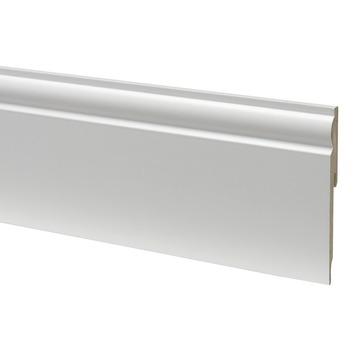Plint mdf  halfrond 12120 wit 240 cm