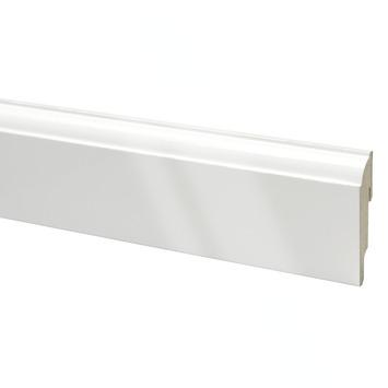 Plint mdf  kwartrond hoogglans wit 240 cm