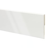 Plinthe bloc CanDo MDF 12x120 mm 240 cm blanc brillant