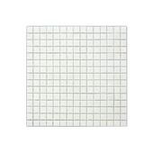 Carrelage mural mosaique verre blanc 2x2cm 1,07m²