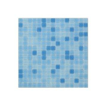 Wandtegel Glasmozaïek Blauw 30x30 cm 1,07 m²