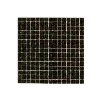 Wandtegel Glasmozaïek zwart 30x30 cm 1,07 m²