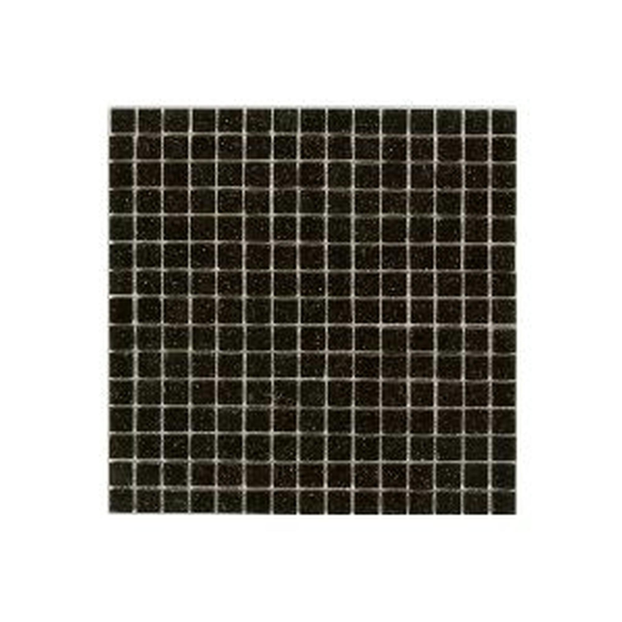 Carrelage mural mosaique verre noir 2x2cm 1 07m for Carrelage mural noir