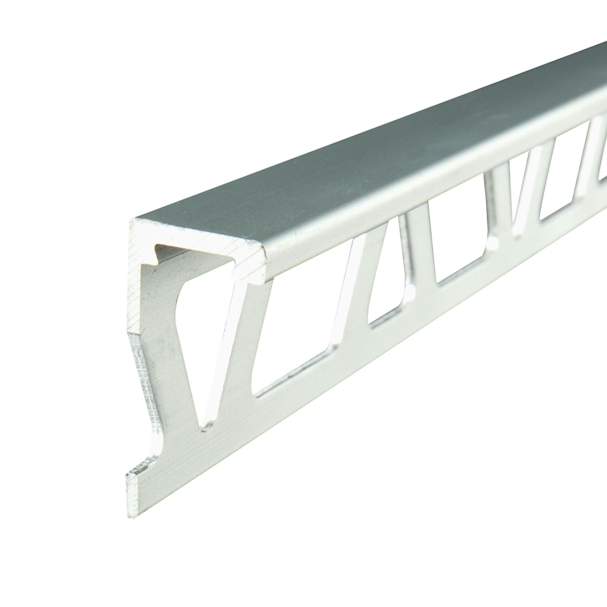 profil carrelage droit aluminium 8mm argent mat 270cm. Black Bedroom Furniture Sets. Home Design Ideas