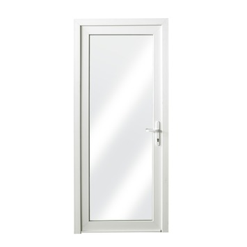 Porte Extérieure En PVC Vitrée Droite X Cm Blanc U Portes - Porte vitrée extérieure