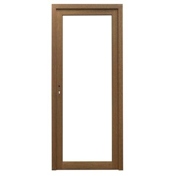 Porte ext rieure en bois xotique vitr e 217x94 cm gauche for Porte exterieure vitree