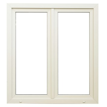 Fenêtre oscillo-battante double en PVC éco SP1112 H118xL126 cm U=1,1