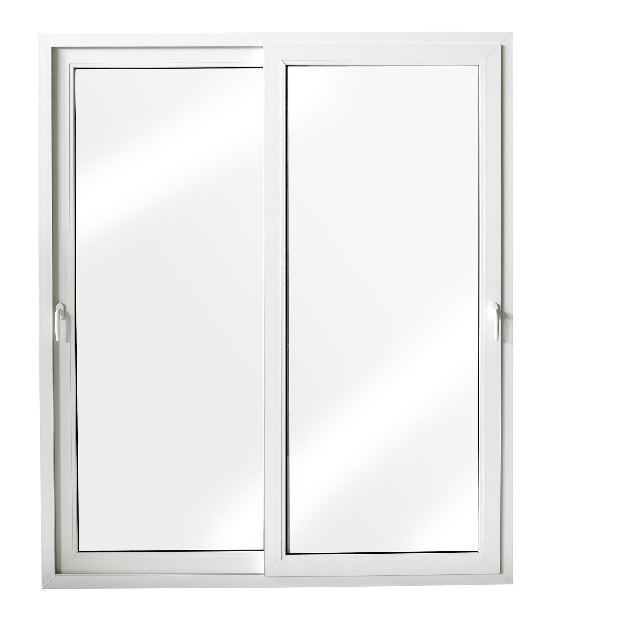 Porte coulissante en pvc blanc 218x216 cm u 1 4 portes for Portes fenetres coulissantes exterieures