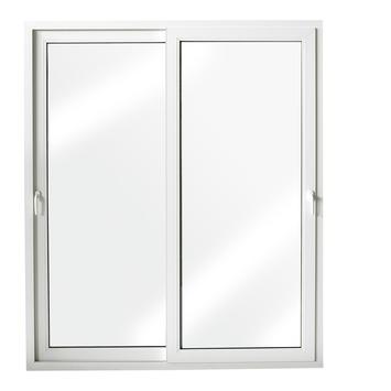 Porte coulissante en PVC blanc 218x246 cm U=1,4
