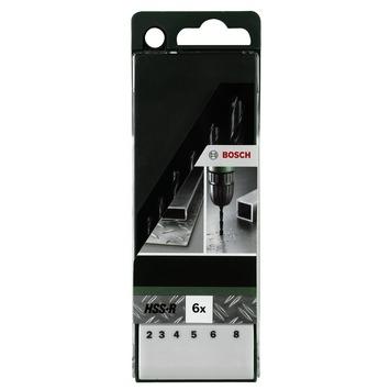 Bosch metaalborenset HSS-R 6-delig