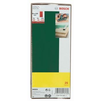 Bosch schuurpapierset 93x230 25 stuks