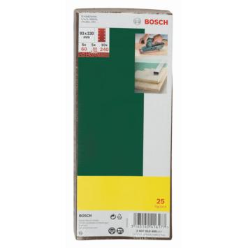 Bosch schuurpapierset 93x230 mm 25 stuks