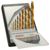 Jeu de mèches à métaux Bosch Pro HSS-TIN 10 pièces