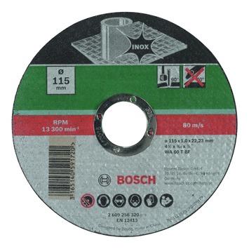 Bosch doorslijpschijf inox 115x1 mm